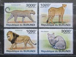 Poštovní známky Burundi 2011 Koèkovité šelmy Mi# 2026-29 Kat 9.50€