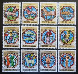 Poštovní známky Adžmán 1971 Znamení zvìrokruhu Mi# 769-80