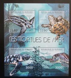 Poštovní známky Burundi 2012 Želvy Mi# 2788-91 Bogen Kat 10€