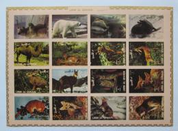 Poštovní známky Umm al-Kuvajn 1972 Fauna neperf. Mi# 1130-45 B Kat 25€