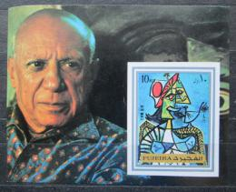 Poštovní známka Fudžajra 1972 Umìní, Picasso neperf. Mi# Block 140 B Kat 8.50€