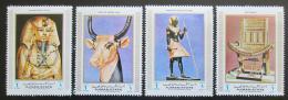 Poštovní známky Adžmán 1971 Egyptské umìní Mi# 1292-95 Kat 10€