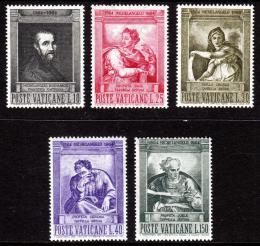 Poštovní známky Vatikán 1964 Umìní, Michelangelo Buonarroti Mi# 454-58