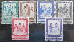 Poštovní známky Vatikán 1965 Svatoøeèení muèedníkù z Ugandy Mi# 471-76