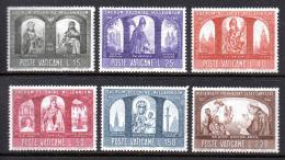 Poštovní známky Vatikán 1966 Christianizace Polska, 1000. výroèí Mi# 502-07