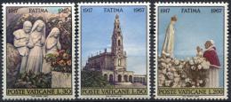 Poštovní známky Vatikán 1967 Fátima Mi# 528-30