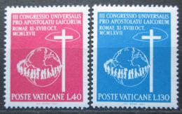 Poštovní známky Vatikán 1967 Svìtový apoštolský kongres Mi# 531-32