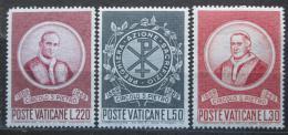 Poštovní známky Vatikán 1969 Papeži Mi# 553-55