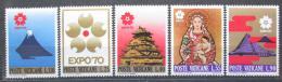 Poštovní známky Vatikán 1970 Výstava EXPO Osaka Mi# 556-60