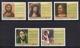 Poštovní známky Vatikán 1970 Papež Pavel VI. a umìní Mi# 564-68