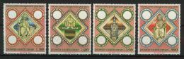 Poštovní známky Vatikán 1973 Biskupství v Praze, 1000. výroèí Mi# 625-28