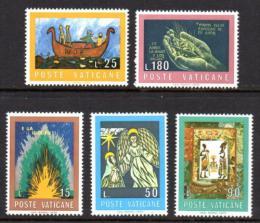 Poštovní známky Vatikán 1974 Kresby z bible Mi# 635-39