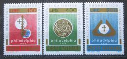 Poštovní známky Vatikán 1976 Mezinárodní eucharistický kongres Mi# 680-82