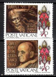 Poštovní známky Vatikán 1978 Umìní Mi# 718-19