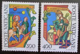Poštovní známky Vatikán 1980 Albert Veliký, filozof Mi# 777-78