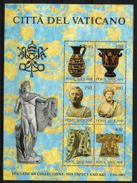 Poštovní známky Vatikán 1983 Výstava vatikánského umìní v USA Mi# Block 5