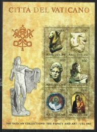 Poštovní známky Vatikán 1983 Výstava vatikánského umìní v USA Mi# Block 6