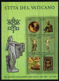 Poštovní známky Vatikán 1983 Výstava vatikánského umìní v USA Mi# Block 7
