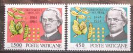 Poštovní známky Vatikán 1984 Gregor Mendel, pøírodovìdec Mi# 844-45