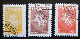 Poštovní známky Bìlorusko 1993 Státní znak Mi# 22-24