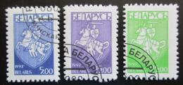 Poštovní známky Bìlorusko 1993 Státní znak Mi# 25-27