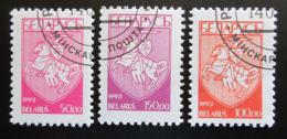 Poštovní známky Bìlorusko 1993 Státní znak Mi# 32-34