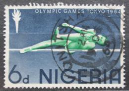 Poštovní známka Nigérie 1964 LOH Tokio, skok do výšky Mi# 157