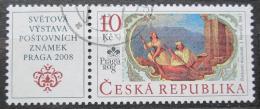 Poštovní známka Èeská republika 2008 Výstava PRAGA, umìní Mi# 548