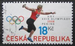 Poštovní známka Èeská republika 2008 LOH Peking, hod diskem Mi# 568
