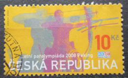 Poštovní známka Èeská republika 2008 Paralympiáda Peking, lukostøelba Mi# 569