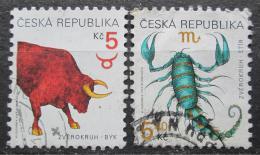 Poštovní známky Èeská republika 1999 Znamení zvìrokruhu Mi# 240-41