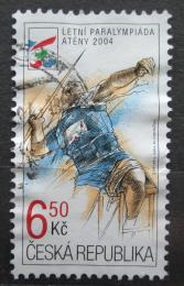 Poštovní známka Èeská republika 2004 Paralympijské hry, hod oštìpem Mi# 405