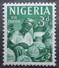 Poštovní známka Nigérie 1961 Øezbáø Mi# 96