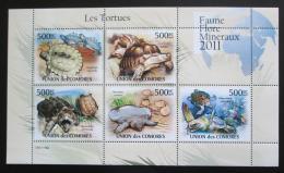 Poštovní známky Komory 2011 Želvy Mi# 3007-11 Bogen Kat 12€