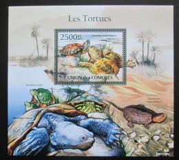 Poštovní známka Komory 2011 Želvy Mi# Block 624 Kat 13€