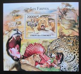 Poštovní známka Komory 2011 Koèkovité šelmy Mi# Block 630 Kat 10€
