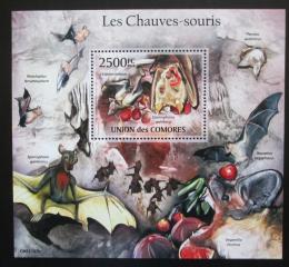 Poštovní známka Komory 2011 Netopýøi Mi# Block 632 Kat 13€
