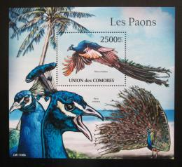 Poštovní známka Komory 2011 Pávi Mi# Block 626 Kat 13€