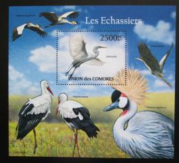 Poštovní známka Komory 2011 Velcí vodní ptáci Mi# Block 627 Kat 13€