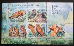 Poštovní známky Komory 2011 Sovy Mi# 3033-37 Bogen Kat 12€