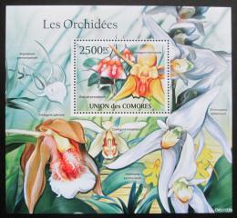 Poštovní známka Komory 2011 Orchideje Mi# Block 615 Kat 13€