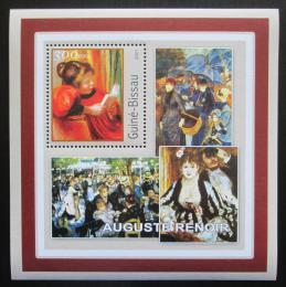Poštovní známka Guinea-Bissau 2001 Umìní, Pierre-Auguste Renoir Mi# 1625 Block
