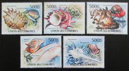 Poštovní známky Komory 2011 Mušle Mi# 2959-63 Kat 12€