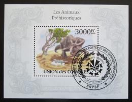 Poštovní známka Komory 2009 Dinosauøi Mi# Block 565 Kat 15€