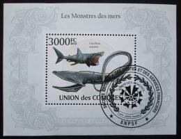Poštovní známka Komory 2009 Velké ryby Mi# Block 574 15€