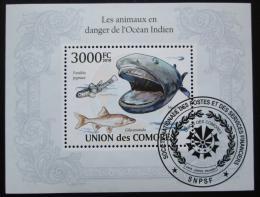 Poštovní známka Komory 2009 Moøská fauna Mi# Block 579 Kat 15€