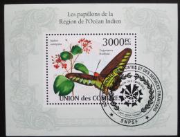 Poštovní známka Komory 2009 Motýl Mi# Block 569 Kat 15€