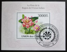 Poštovní známka Komory 2009 Lotos oøechonosný Mi# Block 567 Kat 15€