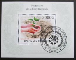 Poštovní známka Komory 2009 Ochrana tropického lesa Mi# Block 582 Kat 15€