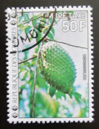 Poštovní známka Komory 1977 Graviola, doplatní Mi# 14